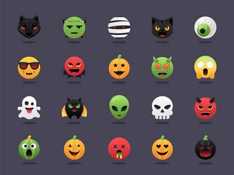 halloween emoji vector set   vectors
