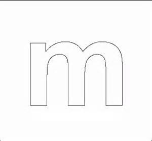 Block M Outline by Alphabet Stencils All Network