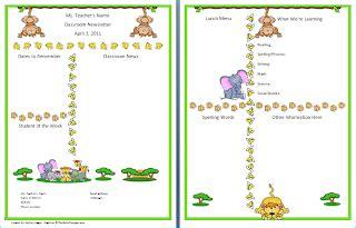 New Theme Jungle Safari Monkeys Monkey Newsletter Template