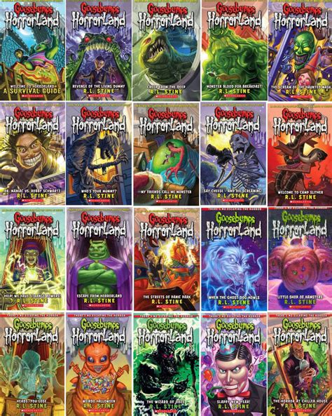 list of goosebumps books with pictures goosebumps in horrorland by r l stine brand new 20 book