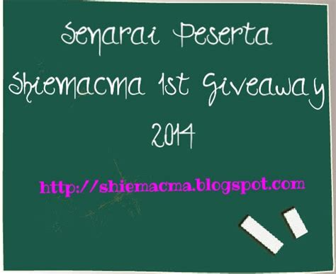 St Cattleya 1 2 Tamat senarai peserta shiemacma 1st giveaway 2014 cintai aku