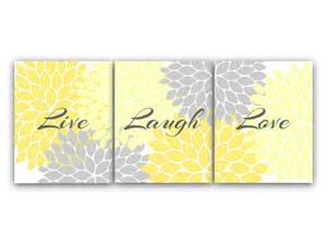 Yellow Wall Decor by Home Decor Wall Live Laugh Yellow Wall