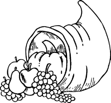 cornucopia coloring pages preschool free coloring pages of a cornucopia with the fruit