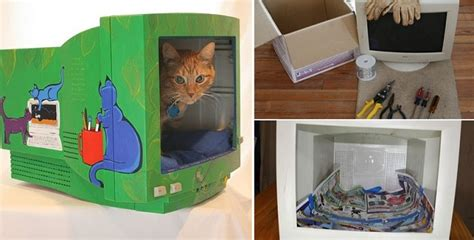 diy cat beds diy cat bed from a computer monitor home design garden architecture blog magazine