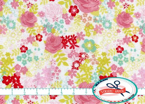 shabby chic fabric by the yard fat quarter pink by fabricbrat
