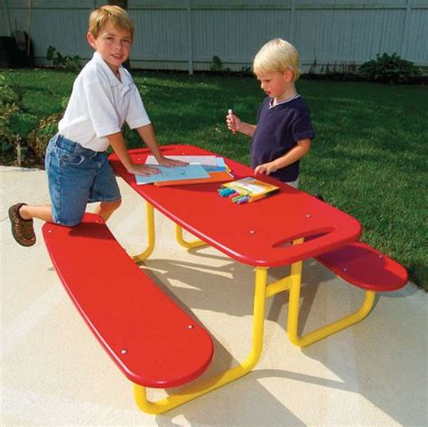 childrens plastic picnic bench children s plastic picnic table kid picnic tables