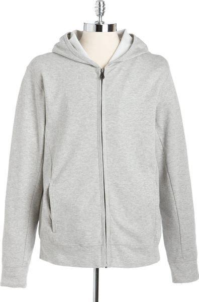 Hoodie Zipper Dkny dkny zip front hoodie in gray for htr grey lyst