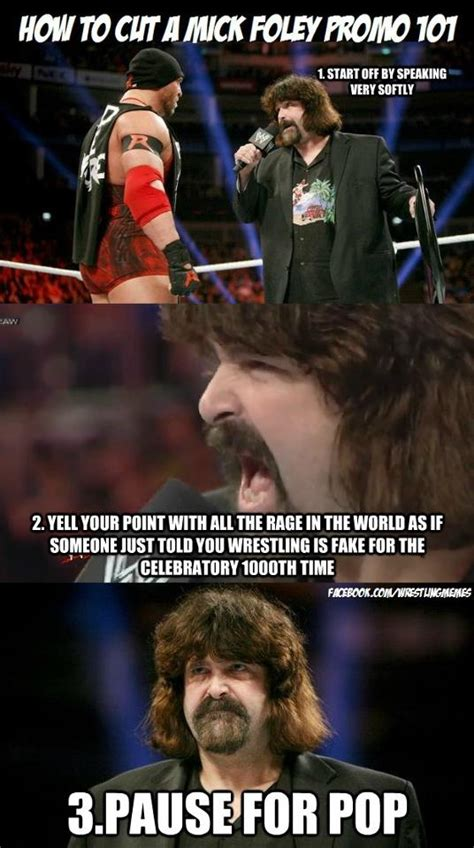 Wwf Meme - wwe mick foley meme how to do a mick foley promo