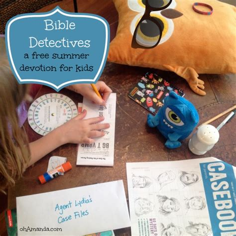 detective crafts for bible detectives