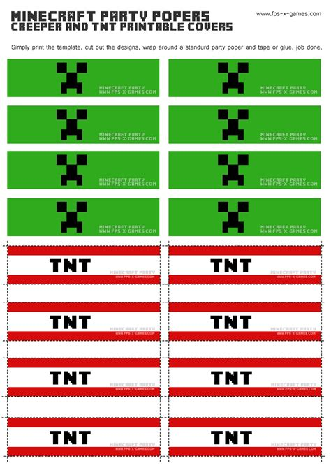 printable minecraft label 7 best images of tnt minecraft party printables tnt