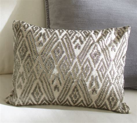 beaded throw pillows maddie beaded lumbar pillow cover traditional