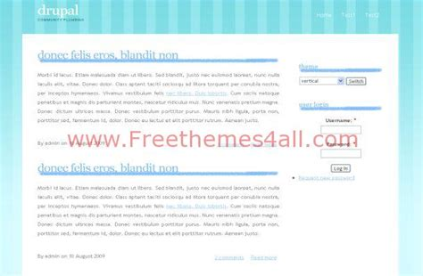 drupal themes white blue white business grunge drupal theme template