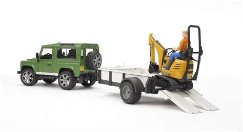 Bruder Land Rover Defender Trailer Jcb Excavator Man