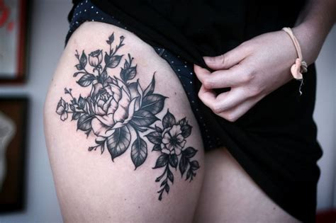 pretty thigh tattoo pls tattoo pinterest