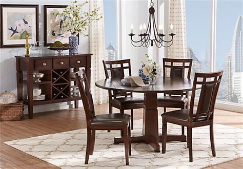 Riverdale Cherry 5 Pc Rectangle Dining Room Dining Room Sets Wood Riverdale Cherry 5 Pc Dining Room Dining Room Sets Wood