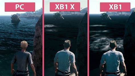 pubg g ps4 pubg pc gegen xbox one x und xbox one im grafik und