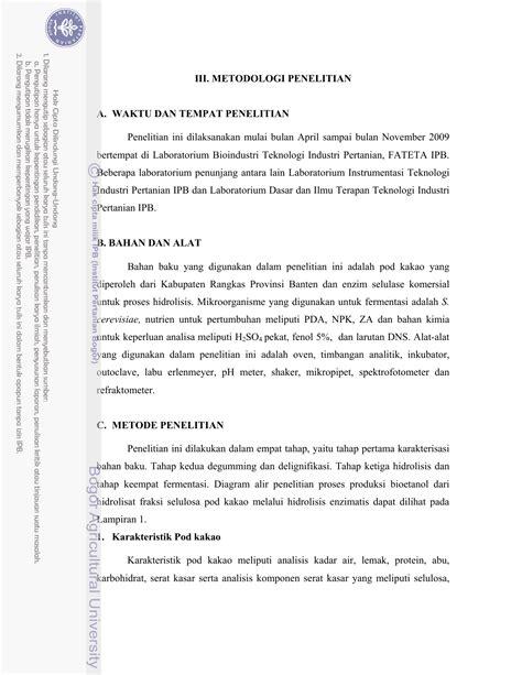 III. METODOLOGI PENELITIAN A. WAKTU DAN