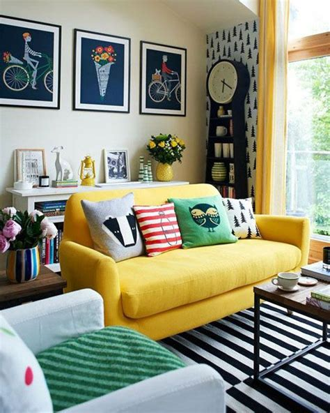 little yellow couch how to design with and around a yellow living room sofa