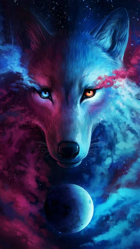 wallpaper galaxy wolf download galaxy wolf wallpapers to your cell phone