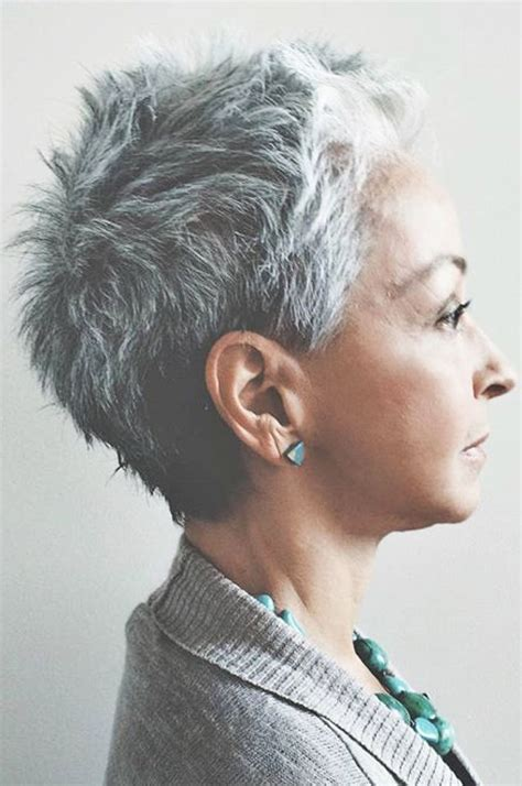 grey funky hair 17 best ideas about short gray hairstyles on pinterest