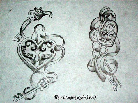 heart lock n key tattoo set tattoobite com