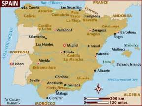 Map If Spain by Map Of Spain
