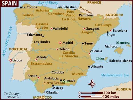 Search Spain Infos Sur Map Espagne Arts Et Voyages