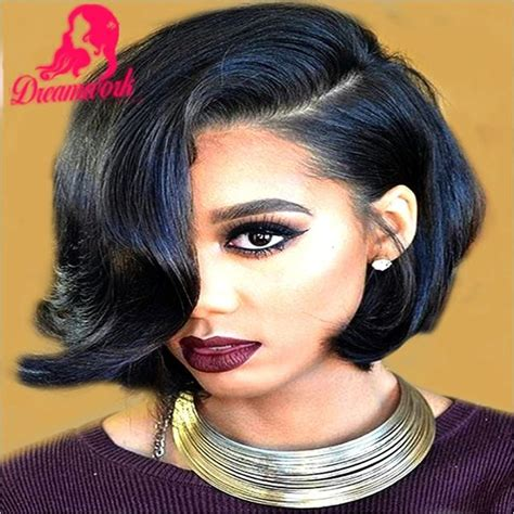 short bob style weaves short wavy bob wigs human hair for black women glueless