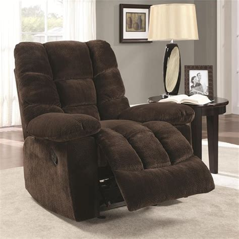 Fabric Reclining Chairs by Coaster 600327 Brown Fabric Reclining Chair A Sofa