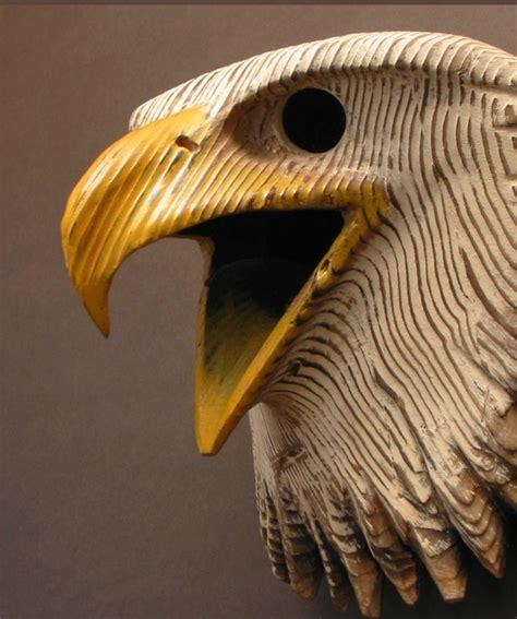 eagle wood carving mask hand carved wood sculpture