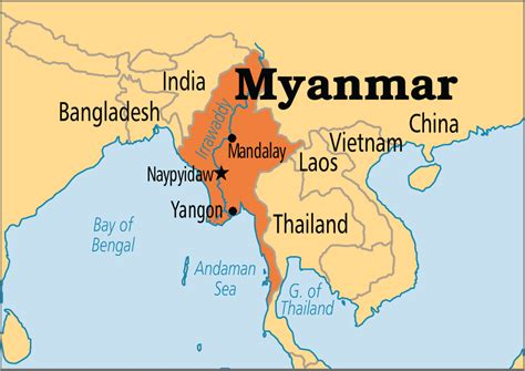 where is myanmar on the map myanmar operation world