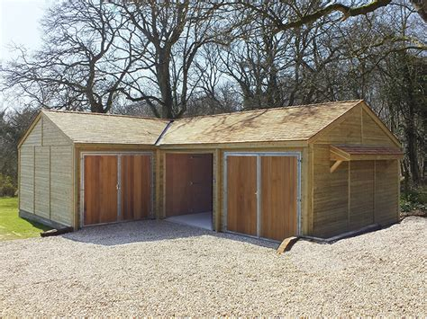 garages by custom made wooden buildings timber garages and wooden garage workshops jon william