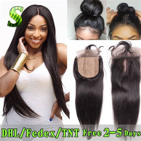 Closure Baby by 7a Silk Base Closure With Baby Hair Free Middle