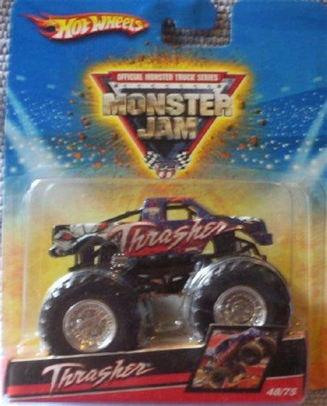 mattel monster jam trucks 2009 wheels monster jam 48 75 thrasher 1 64 scale
