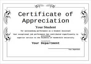 Editable Certificate Of Appreciation Template by Sle Certificate Of Appreciation Temaplate 12