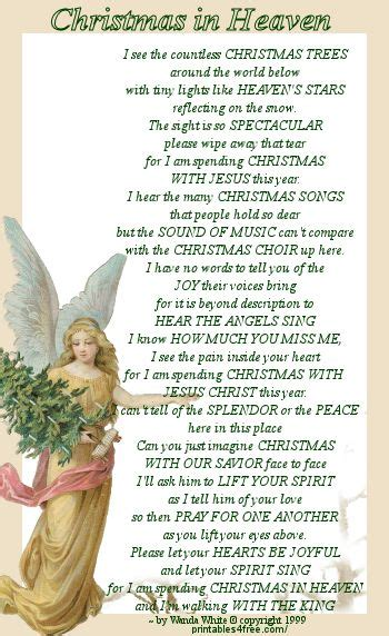 bookmark christmas  heaven  wanda white christmas  heaven christmas quotes heaven poems
