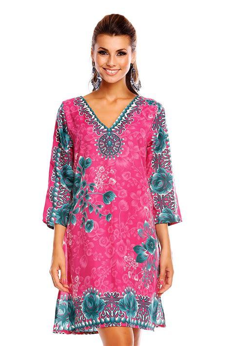 Summer Tunik 2 looking glam tribal print kaftan tunic summer top midi dress ebay