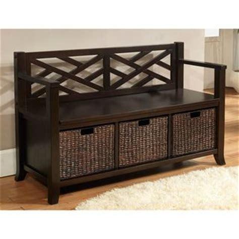 brown storage bench with baskets wyndenhall nolan espresso brown entryway bench with basket