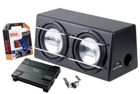 boss dap dual   bass system amplifier subwoofer