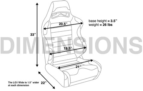 corbeau sport seat dimensions corbeau lg1 racing seats z1 motorsports