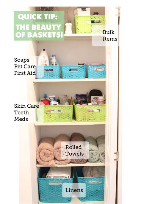 Baskets For Closet Organization by Closet Organization Using Baskets