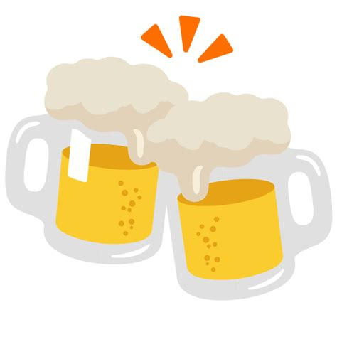 beer emoji file emoji u1f37b svg wikimedia commons