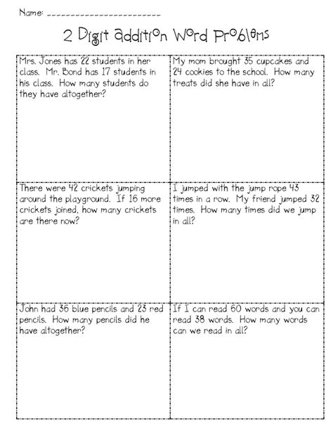 Number Story Worksheets For Grade by 16 Best Images Of Grade Number Story Worksheets