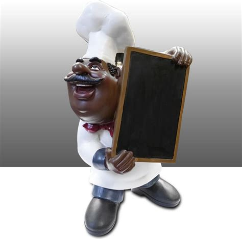 Black Chef Kitchen Decor by Black Chef Kitchen Statue Menu Board Holder Table