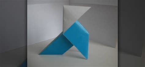 Heavy Origami Bird - how to fold a paper pajarita origami bird from heavy