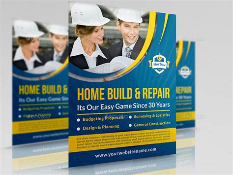 construction flyer templates construction advertising bundle vol 2 by owpictures