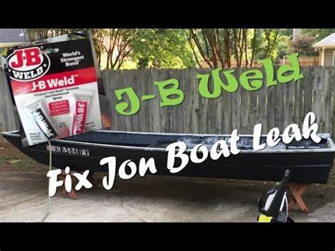 aluminum boat jb weld repair aluminum jon boat leaks with jb weld youtube