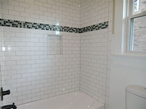 Subway Bathroom Tile Guest Bath Tub With Subway Tile Surround Vision Pointe Homes