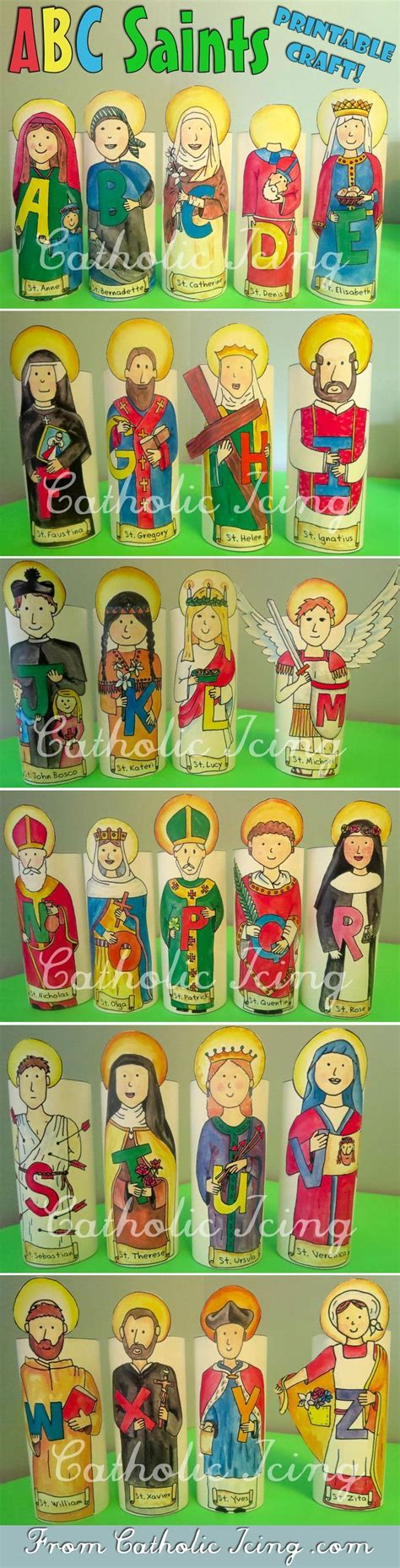 printable ornaments for catholic kids 25 b 228 sta saints id 233 erna p 229 patron saints catholic prayers och katolsk