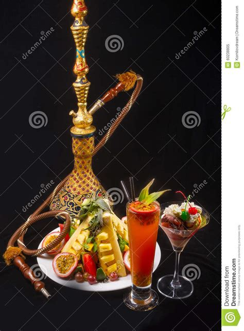 Shisha Coktail hookah with fruit vitamin tropical cocktails stock photo image 60238805